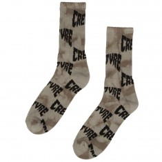 Creature Skateboards Logo Warp Socks - Black
