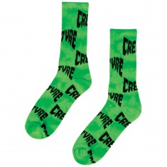 Creature Skateboards Logo Warp Socks - Green