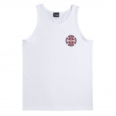 Independent 2 Color TC Tank Top - White