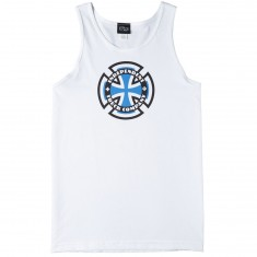 Independent Skateboard Trucks Ringed Cross Tank Top - White