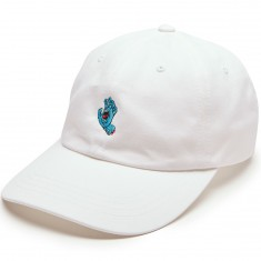 Santa Cruz Screaming Hand Baseball Hat - White