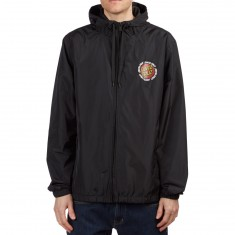 Santa Cruz Ringed Dot Windbreaker Jacket - Black