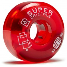 Ricta Super Crystals Skateboard Wheels - Red - 53mm 99a