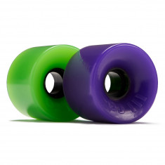OJ Hot Juice Green and Purple 78a Skateboard Wheels - 60mm