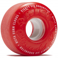 Ricta Clouds Red White 86a Skateboard Wheels - 55mm