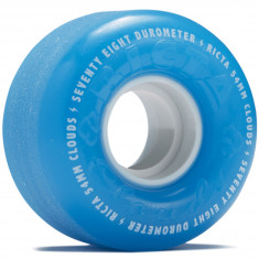 Ricta Clouds Blue White 78a Skateboard Wheels - 54mm