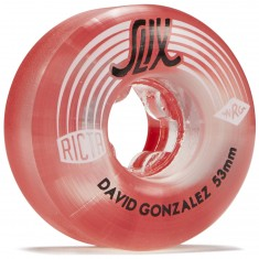 Ricta David Gonzalez Crystal Slix Clear Red 99a Skateboard Wheels - 53mm