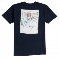Independent Salba Water Color T-Shirt - Navy