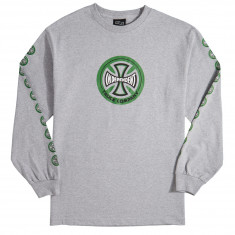 Independent Hollow Cross Long Sleeve T-Shirt - Athletic Heather