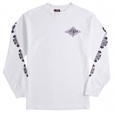 Independent Evan Smith Warped Cross Long Sleeve T-Shirt - White