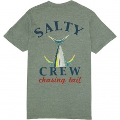 Salty Crew Chaising Tail Heather T-Shirt - Peppered Sage