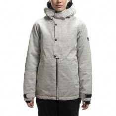 686 Rumor Insulated Snowboard Jacket - White Slub