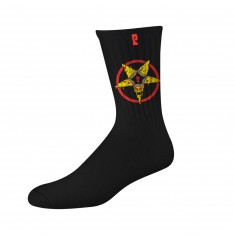Psockadelic Killer Pizza 2 Socks - Black/Yellow