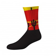 Psockadelic Cooler Cactus Socks - Black/Red