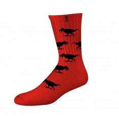 Psockadelic Gnar Socks - Red/Black