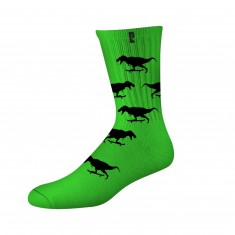 Psockadelic Gnar Socks - Green/Black