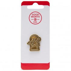 Good Worth Adults Only Pin - Brass