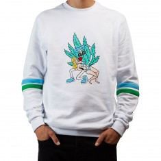 Good Worth Hold Me Crewneck Sweatshirt - White