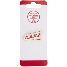 Good Worth Care Pin - White/Red