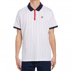 FILA BB1 Polo Shirt - White/Navy/Red