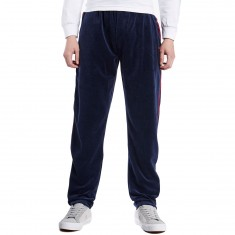 Fila Piped Velour Pants - Navy/Chinese Red/White