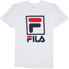 FILA Stacked T-Shirt - White/Navy/Chinese Red