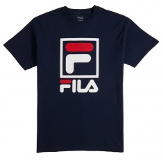 FILA Stacked T-Shirt - Navy/White/Chinese Red