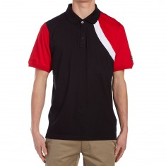 FILA Narducci Polo Shirt - Black/Chinese Red/White