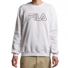 FILA Harlem Crew Sweatshirt - White/Black/Chinese Red