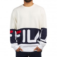 FILA Blake Sweater - Heather Grey/Navy/White
