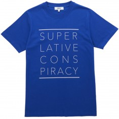 WeSC Max Front Print T-Shirt - Greek Blue