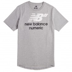 New Balance Logo Stacked T-Shirt - Athletic Grey