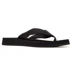bbe55e3d028a Reef Womens Sandy Sandals - Black Black