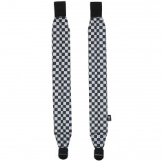 Acembly Backpack Straps - Black/White Checkered