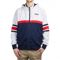 FILA Hansen Hooded Jacket - White/Peacoat/Chinese Red