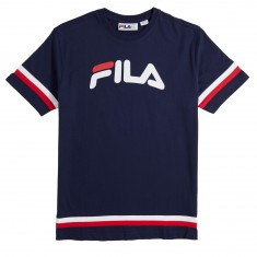 FILA Riley T-Shirt - Peacoat/Chinese Red/White