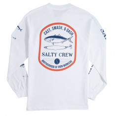 Salty Crew Lure Set Long Sleeve T-Shirt - White