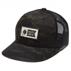 42a9a40a86edc0 Salty Crew Topstitch Retro Trucker Hat - Multicam Black