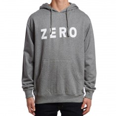Zero Army Pullover Hoodie - Gunmetal Heather/White