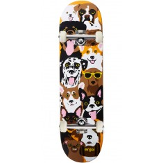Enjoi Dog Collage R7 Skateboard Complete - Brown - 8.375