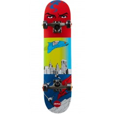 Almost Superman Flight Youth Skateboard Complete - Red/Blue