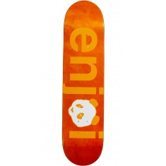 Enjoi No Brainer Hybrid Skateboard Deck - Orange - 7.75