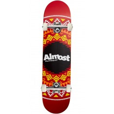 Almost Geo Aztec Hybrid Skateboard Complete - Red - 7.75