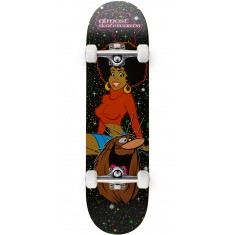 Almost Caveman Blacklight R7 Skateboard Complete - Black - 8.375