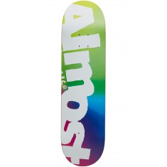 Almost Side Pipe Blurry Hybrid Skateboard Deck - Green/Blue/Pink - 8.25