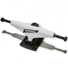 Tensor Alum Reg Switch Flick Skateboard Trucks - White/Black