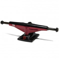 Tensor Alum Lo Split Skateboard Trucks - Red/Black