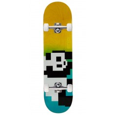 Enjoi 8 Bit Panda R7 Skateboard Complete - Blue/Yellow - 8.00""