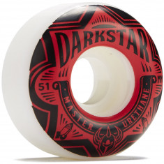 Darkstar Section Skateboard Wheels - Red - 51mm