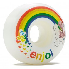 Enjoi Snuzzle Skateboard Wheels - White - 52mm